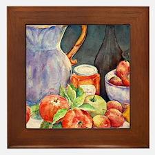Watercolor Fruit Jug Still Life Framed Tile