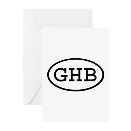 GHB Oval Greeting Cards (Pk of 10)