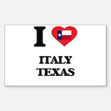 I love Italy Texas Decal