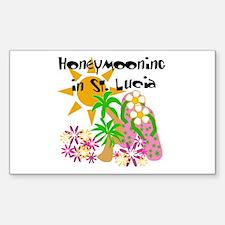 Honeymoon St. Lucia Rectangle Decal