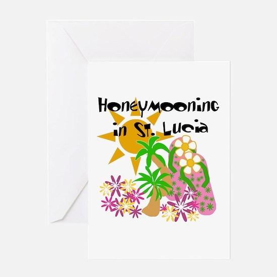 Honeymoon St. Lucia Greeting Card