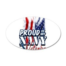 Proud of my Navy Veteran Wall Decal