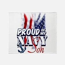 Proud of my Navy Son Throw Blanket
