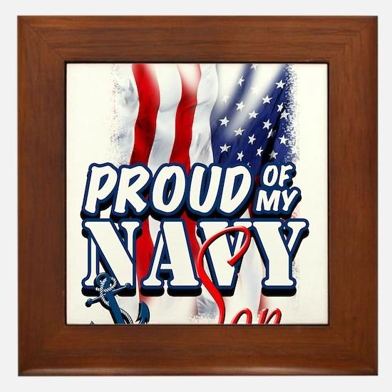 Proud of my Navy Son Framed Tile