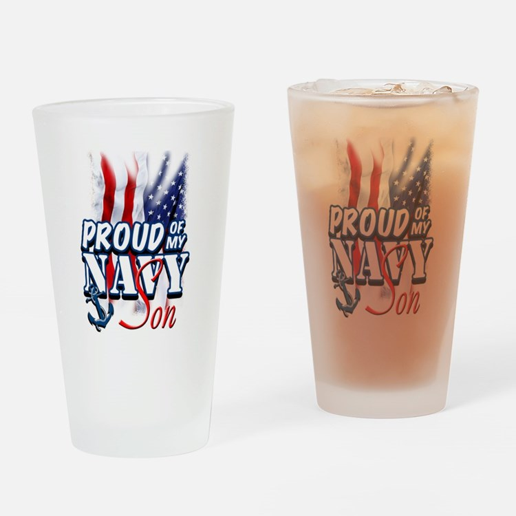 Proud of my Navy Son Drinking Glass