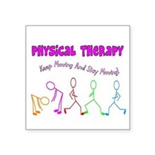 "Cute Physical therapy Square Sticker 3"" x 3"""