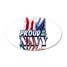 Proud of my Navy Mom Wall Decal