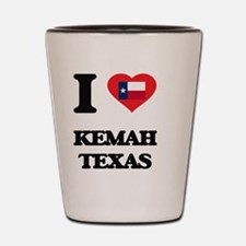 I love Kemah Texas Shot Glass
