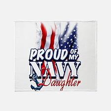 Proud of my Navy Daughter Throw Blanket