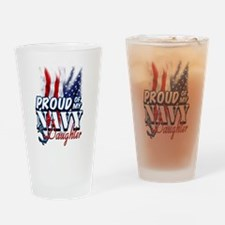 Proud of my Navy Daughter Drinking Glass