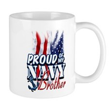 Proud of my Navy Brother Mugs