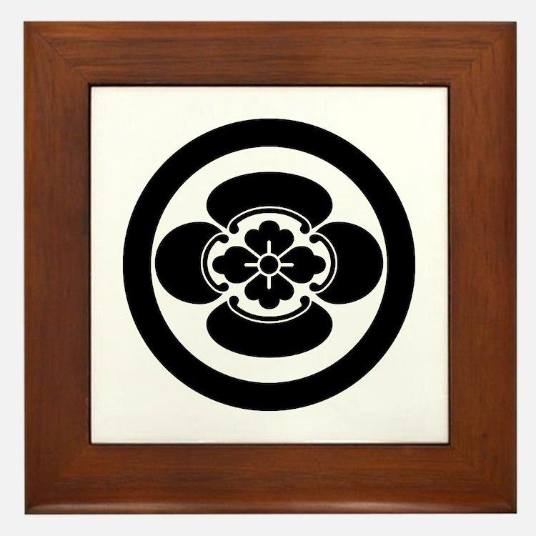 Mokko in a circle Framed Tile