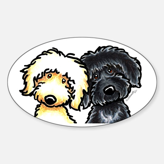 Cute Labradoodle lover Sticker (Oval)