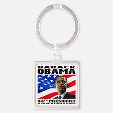 44 Obama Square Keychain