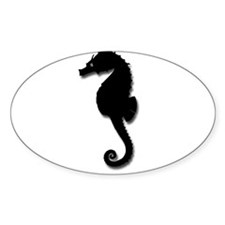 Sea Horse Silouette Decal