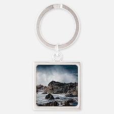 Lava Rock Ocean Spray Keychains