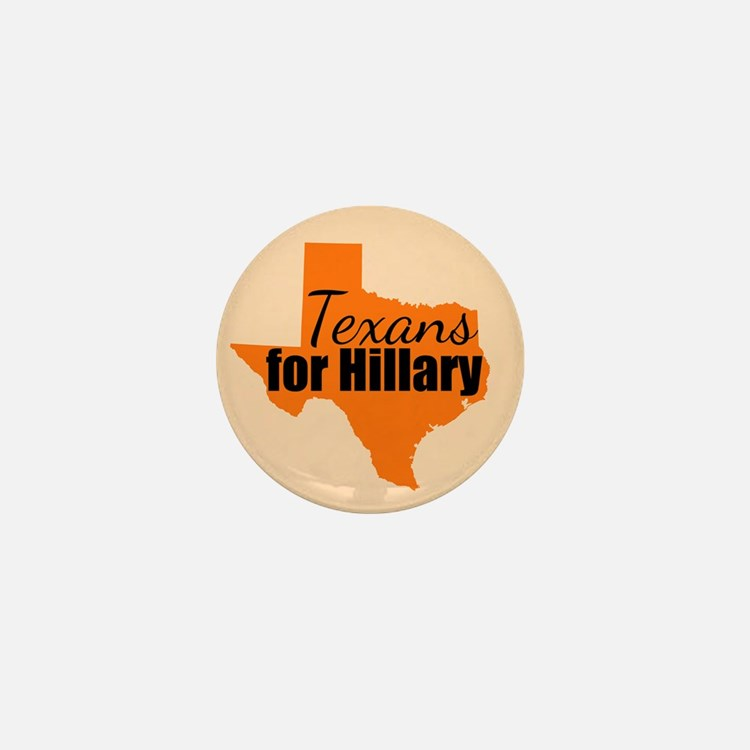 Texans for Hillary Mini Button