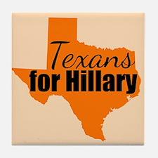 Texans for Hillary Tile Coaster