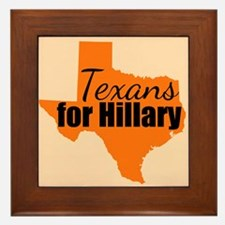 Texans for Hillary Framed Tile