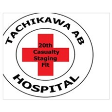 20th Casualty Tachikawa Air Base Canvas Art