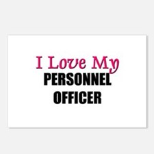 I Love My PERSONNEL OFFICER Postcards (Package of