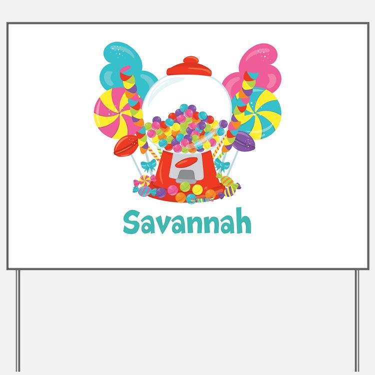 Custom Name Candyland Birthday Yard Sign
