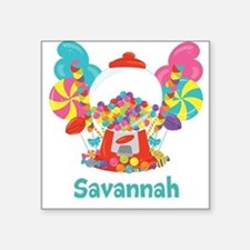 Custom Name Candyland Birthday Sticker