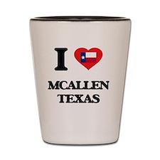 I love Mcallen Texas Shot Glass