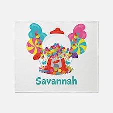 Custom Name Candyland Birthday Throw Blanket