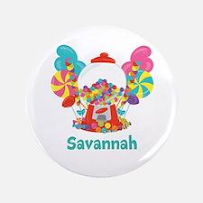 Custom Name Candyland Birthday Button
