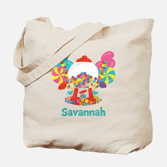 Custom Name Candyland Birthday Tote Bag
