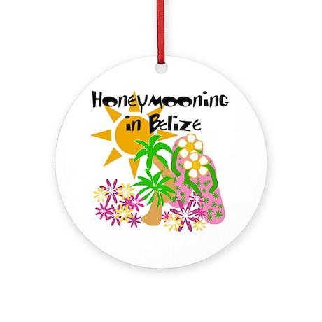 Honeymoon Belize Ornament (Round)