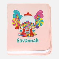 Custom Name Candyland Birthday baby blanket