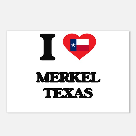 I love Merkel Texas Postcards (Package of 8)