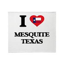 I love Mesquite Texas Throw Blanket