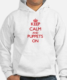 Keep Calm and Puppets ON Hoodie