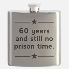 60 Years No Prison Time Flask