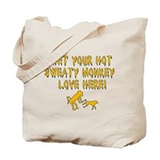 Hot Sweaty Monkey Love Tote Bag