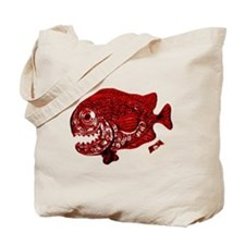 Red Chrome Chompers. Fish Retro Tuna RCM  Tote Bag