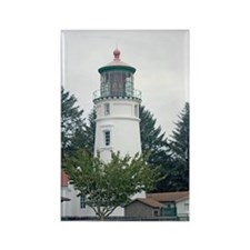 Umpqua River Light with Trees Rectangle Magnet