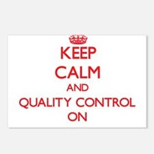 Keep Calm and Quality Con Postcards (Package of 8)