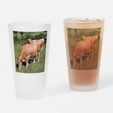 Cows in field on El Camino, Spain Drinking Glass