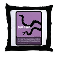 Ogopogo Throw Pillow