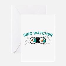 Bird watcher Greeting Cards