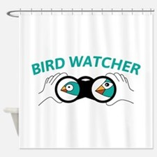 Bird watcher Shower Curtain