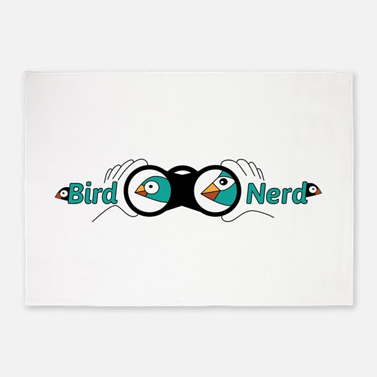 Bird nerd 5'x7'Area Rug