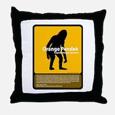 Orang Pendek Throw Pillow