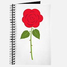 Red Long Stemmed Rose Journal