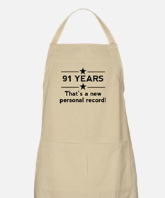 91 Years New Personal Record Apron