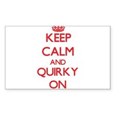 Keep Calm and Quirky ON Decal